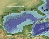 The climate is influenced by the Gulf of Mexico
