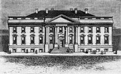 1800s Sketch of The White House