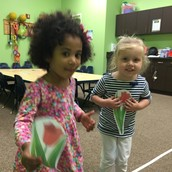 Madelyn and Grace in Flower Game