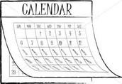 Calendars  (Through Thanksgiving Break)