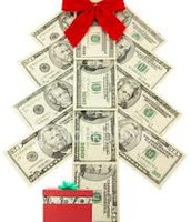 A lot of money spent during holiday shopping season