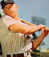 Yankees' Hall of Famer Mickey Mantle (1953)