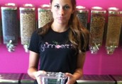 Katy is sad because she is out of toppings.... help her fill up her bin!  Tweet a caption and help her choose our next topping! #yumitup