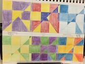 Kedra's super accurate hand drawn color harmonies make me think of Piet Mondrian paintings
