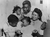 Jackie Robinson with his family