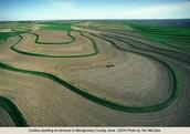 A strip farm in York, Nebraska