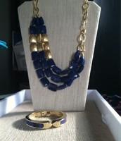 Cobalt Blue Necklace & Bracelet Set