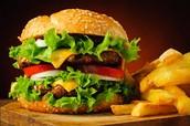 hamburguesa con queso (quinientos cuarenta y dos 542 pesos)