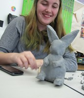 Jade working on her Rabbit