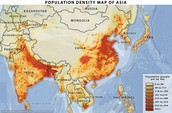 Population Density of Monsoon Asia