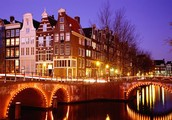 Amsterdam is the capital of Netherlands in the northern of Holland.