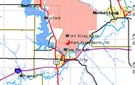 Map of Fort Riley