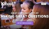 1.   Create an account at getkahoot.com