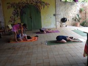 EcoYoga Therapy on the patio
