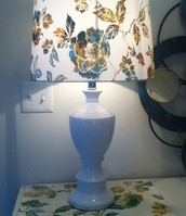 Floral Lamp & matching placemat