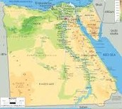 Physical feature map of Egypt