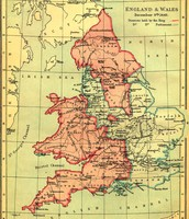 Map of England during the 1500's