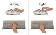 Wrists On Desktop