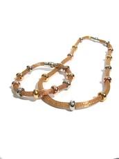 Conjunto de Malla - Pulsera y collar Dorado