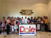 Day 2 -Working with our personal chef, Mr. Allison, from Dole.