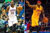 If your a real NBA fan you wonder who is better James or Durant well lets find out and see.