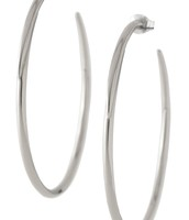 SOLD: Signature silver hoops $15