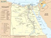 This is a map of what Egypt looks like