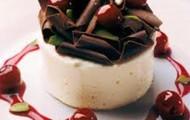 cherry chocolate pudding