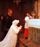 First Communion 1869 (First Major Painting)