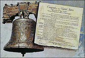 The Liberty bell with a contract