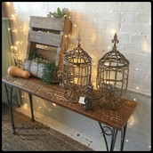 $65 each - Distressed Iron Candle Urns