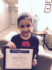 December Value of the Month Student ~ Simone Rivera