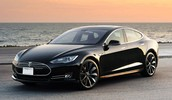 Tesla Model S, one of the few mid sized electric cars on the market