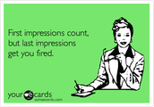 First Impressions are Last Impressions