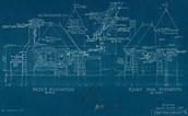 blue prints for house (what architects use to plan)