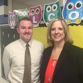 Mr. Paris, Assistant Principal and Ms. Sands, Principal
