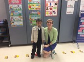 Ms. Gunderson and student