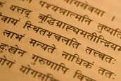 Example of Sanskrit