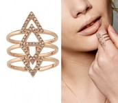 Pave spear ring--$12 (orig. $34)