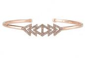 Rose Gold Pave Triangle Bracelet