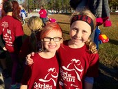 A few of our girls making great time at the GOTR race!