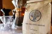 A bag of coffee beans from Guatemala.