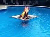 pool fire pit
