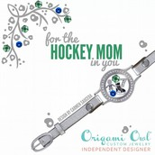 Leather Wrap Hockey Mom Bracelet