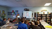 5th grade speaking with author Josh Funk