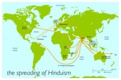 Where Hinduism started, then spread out to