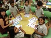 Prep 2AMc practising their spelling patterns