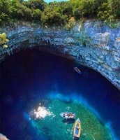Melissani Cave (birds eye view).