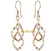 TWISTED GOLD/SILVER WOMEN'S EARRINGS