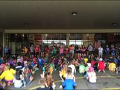 DECA Works Highland Village Elementary Field Day!